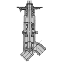 Y angle globe valve