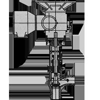 Angle stopcheck valve