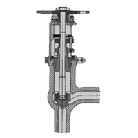 Angle needle globe valve