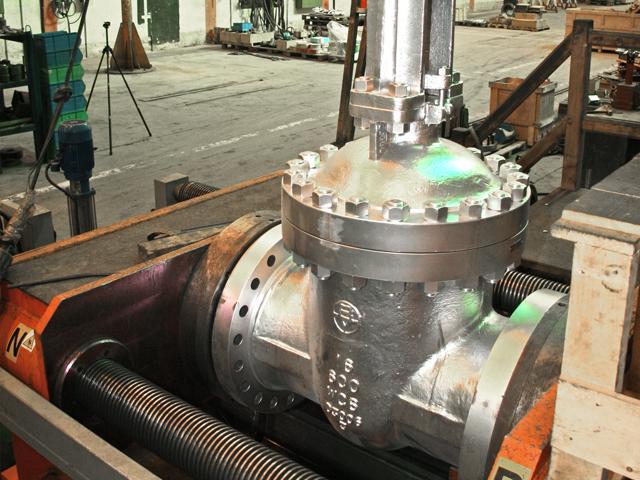 Babcock valves testing