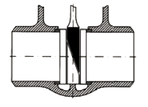 upper wedge inclined face