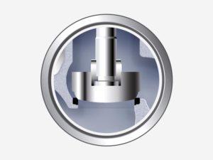 Globe valve mechanism scheme