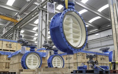 Ball and Butterfly valves manufactured for a water pipeline in South America