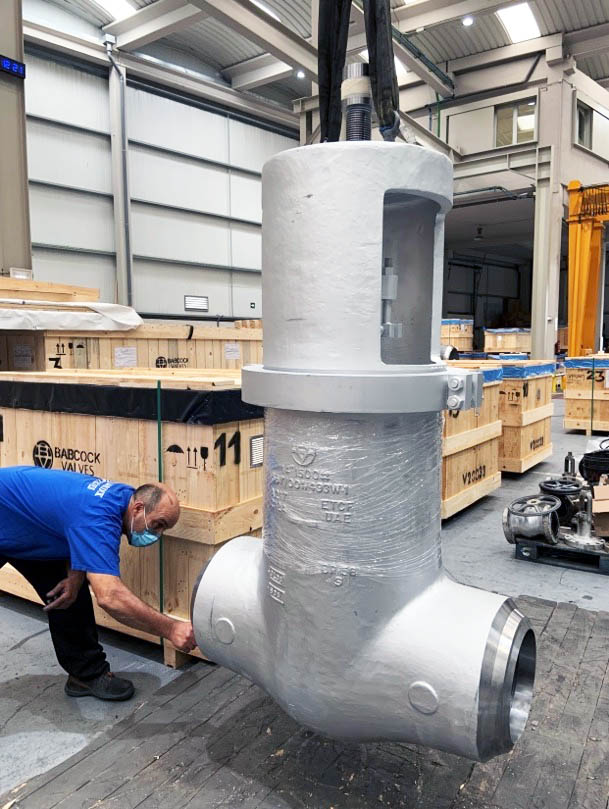 Parallel slide gate valve ready for expedition